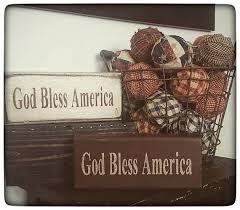 <b>1 pc</b>. Wooden God Bless American Block-Americana <b>Decor</b> ...