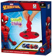 """Набор для изготовления <b>слайма 1TOY Слайм тайм</b> """"Человек паук"""""""