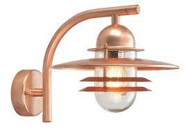 copper outdoor lighting. norlys oslo art deco style copper garden outdoor wall light lighting r