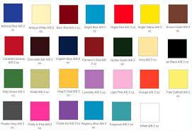 Folk Art Paint Chart Apple Barrel Acrylic Paint Color Chart Www