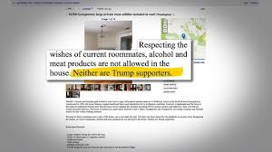 Womans Craigslist Ad For New Roommate Includes No Trump Clause