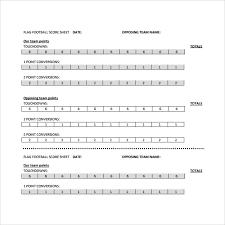 Football Score Sheet Format Bilir Opencertificates Co