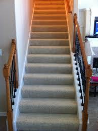 Carpet To Hardwood Stairs Finishing Basement Stairs Modernize