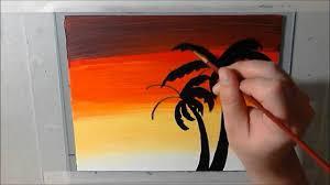 palm tree sunset acrylic art timelapse sd painting hawaiian designs you