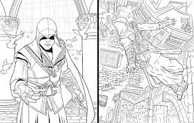 Stylish Ideas Assassins Creed Coloring Pages Assassins Print And