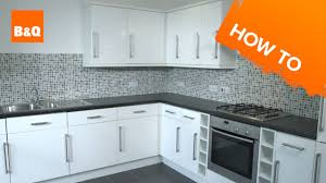 How To Fit Kitchen Units Part Fitting Unit Doors Handles B And Q Sink Plugs  ...