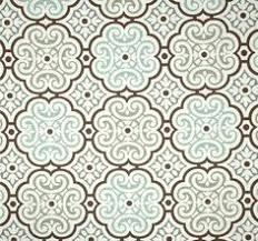 Small Picture Coral Grey Brown Mosaic Fabric by the Yard Designer Home Decor