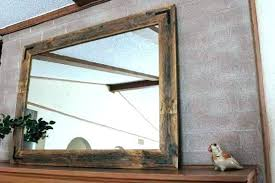 wood wall mirrors. Large Reclaimed Wood Mirror Mirrors Framed Wall Rustic Modern . E