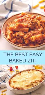 the best easy baked ziti the