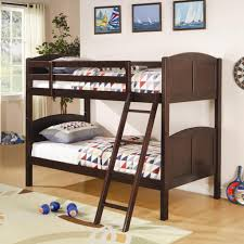 Twin Bunk Bed Coaster Cappuccino Finish Wood Furniture Store