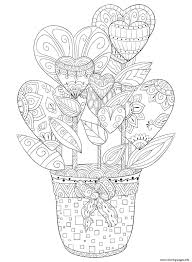 Valentines day coloring pages free printable coloring pages. Valentines Day Hearts Flowers For Adult Coloring Pages Printable