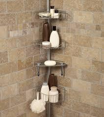 bathroom tension pole caddy