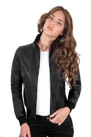 italian leather jacket for women er model black 2