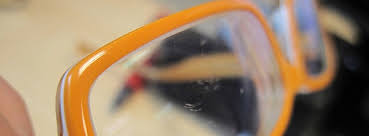 in general the lenses in most eyeglasses these days are plastic that means they re pretty easy to care for and buff out the scratches