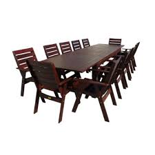 pacific 13 piece taste extension table dining setting
