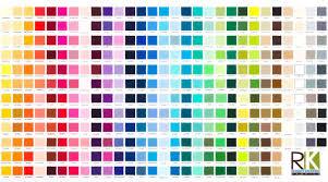 Kona Fabric Colour Chart Panel Cotton Quilts Fabric