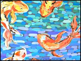 koi fish at saratoga paint and sip studio splash
