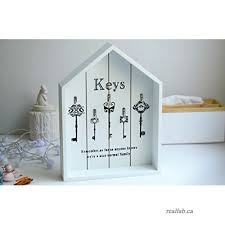 decorative wall key holder vintage hooks hanging wooden storage containers key box cabinet cupboard white b075hc7qxg
