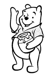 Tranh tô màu gấu Pooh 68