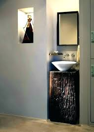 small corner sink for powder room sinks home improvement awesome tin