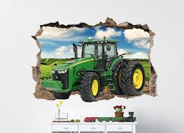 tractor smashing wall perfect john deere wall decals