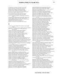 Species Index a - f; pp. 505 - 616 - Nearctica