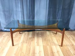 Teak And Glass Coffee Table Rare Teak And Glass Coffee Table By Sven Ellekaer For Christian