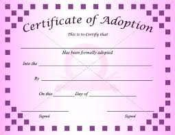 Blank Birth Certificate Template Beauteous Pet Health Certificate Template Fresh Best Adoption Templates Images