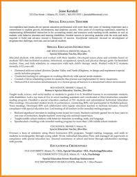 14 Sample Resume For Special Education Teacher Azzurra Castle