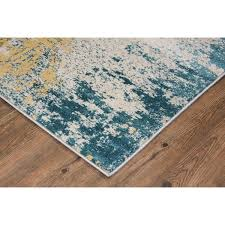 teal and yellow area rug modern make in turkey silver grey blue green 2 7 with regard to 6