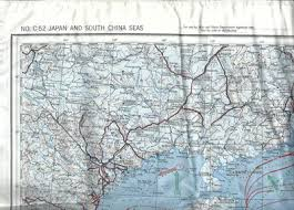 Aaf Cloth Map No C 52 Japan And South China Seas With No