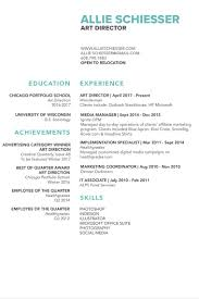 Allie Schiesser Art Director Resume