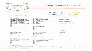 Baby Shower Checklist Template Awesome Baby Shower Planner