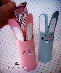 easy kid craft easter bunny candy holders by livinglocurto com