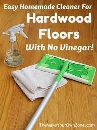 homemade no vinegar hardwood floor cleaner