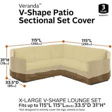 l shaped outdoor sectional cover