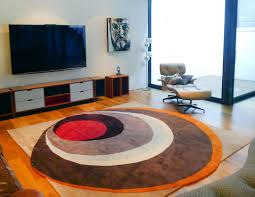 contemporary round rugs style