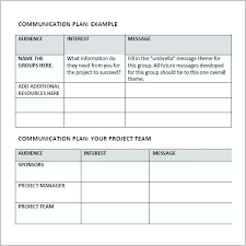 Communication Plan Template Word Marketing And Communications Plan Template Word Sample Pr Sharkk
