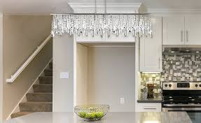 fresh linear crystal chandelier 2