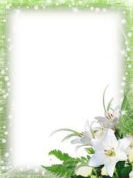 Green Png Photo Frame With Flowers Gallery Yopriceville High