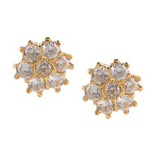 Diamond Earrings Traditional Designs Efulgenz Indian Bollywood Designer 18 K Gold Plated Traditional Cz Stud Earrings Jewelry For Women And Girls Gift For Her