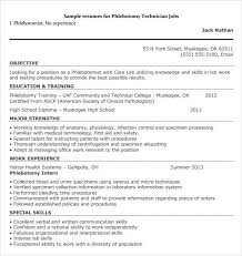 phlebotomy resume sample entry level phlebotomist resumes samples  traditional merie jhone