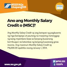 Ang Sweldo Mo Ay Katumbas Na Monthly Salary Credit O Msc Ayon Sa