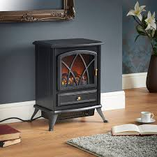 com vonhaus free standing electric stove heater portable home fireplace with log burning flame effect adjule 1500w 16 8w x 10 8l x 20h inches