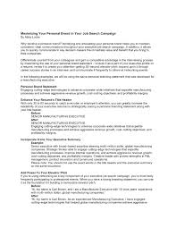 Personal Statement For Resume Personal Branding Statement Resume Examples Brand Samples Capable