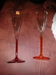 rcr fusion crystal multicolor x2 red orangewine glass made in italy