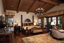 mediterranean style master bedroom master bedroom with restoration hardware c rococo iron clear crystal round chandelier