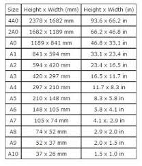 Clever Soiree Standard Paper Size Chart Paper Sizes Chart