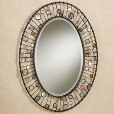 wonderful oval shape entryway wall mirrors with iron frames as