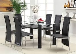 glass dining table set fresh at inspiring black room and chairs awesome modern sets home pictures